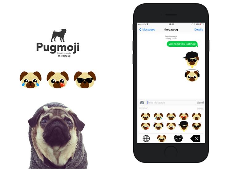 5 apps com o tema Pug